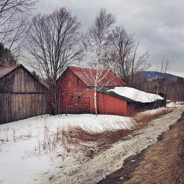 See this barn every time I drive north through the Adirondacks, and in each instance of season and lighting her faded siding blushes a subtly shifted red.  #color #photography #explore #adks #adirondacks