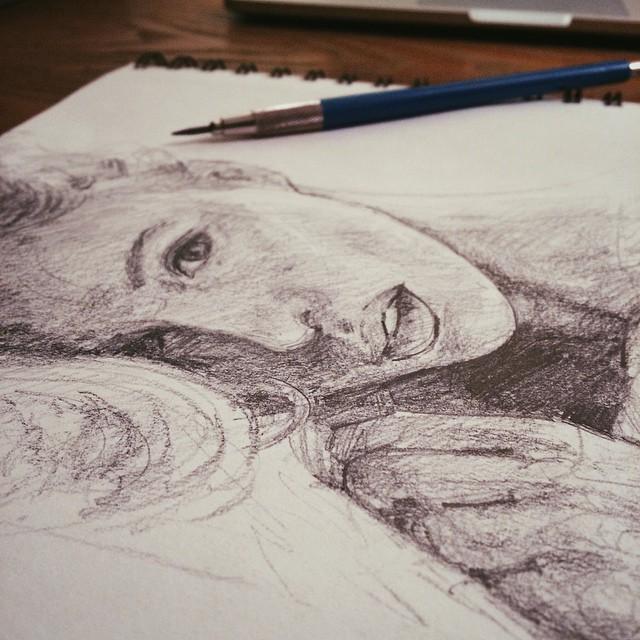 Snowy Saturday afternoon #sketching #sketch #sketchbook #staedtler #graphite #portrait