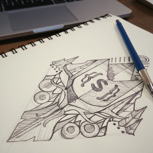 #sketching for an upcoming #tshirt / #illustration #sketchbook #wip #staedtler #stylin #tamethewild #apparel / @createandskate