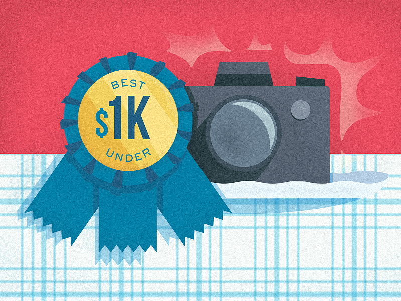 "Latest illustration: story graphic for Imaging Resource's ""Best Cameras Under $1000"" holiday shopping guide."