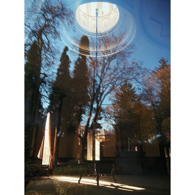 Mock double-exposure through the museum window #lfis #Saratoga