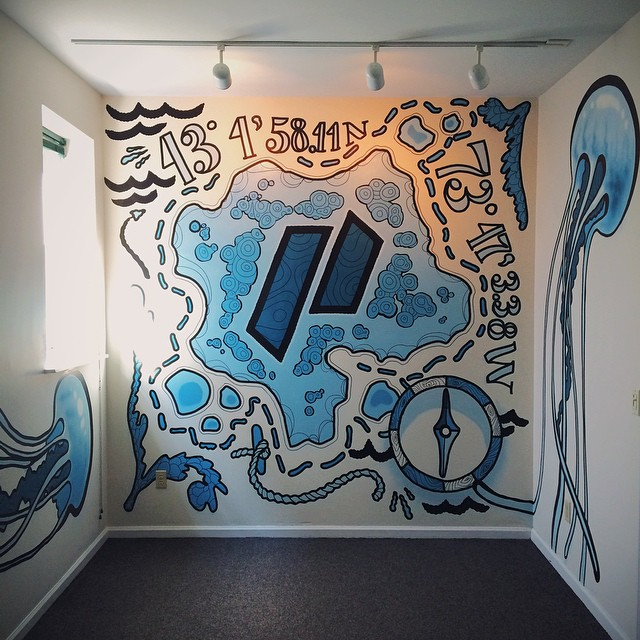 finished #mural for the Packet Tide offices #graffito #painting   #montanacans