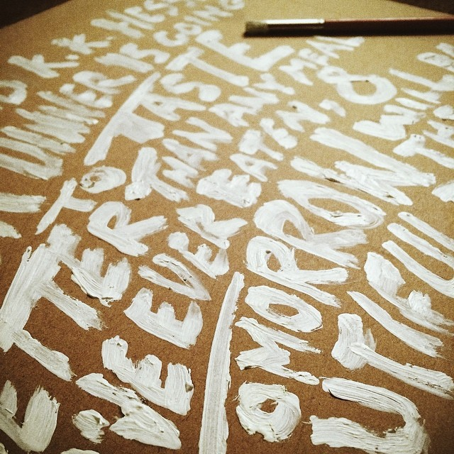 #type #lettering #experimental #brush