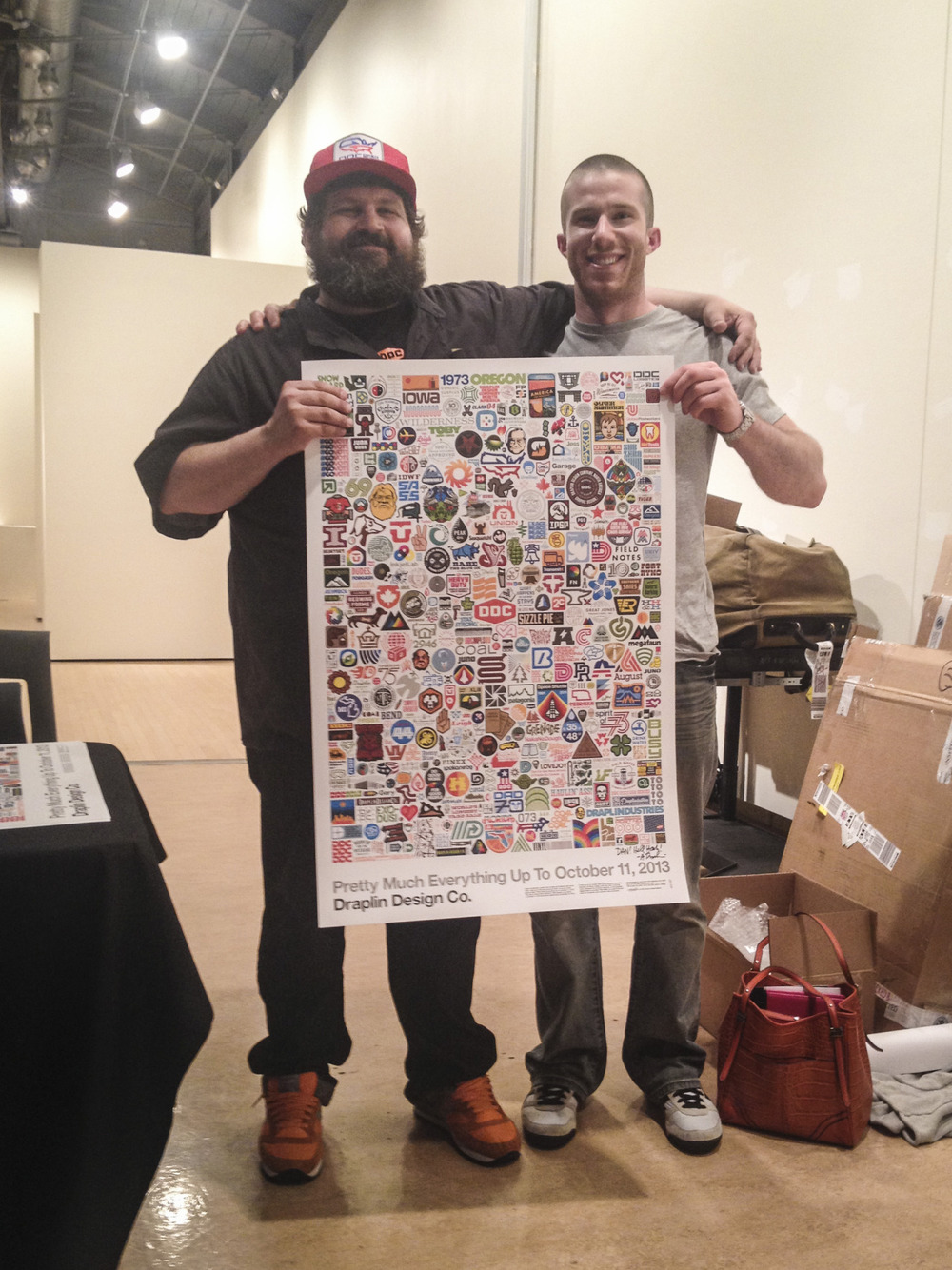 "Was privileged to meet the legend himself,  Aaron Draplin , this week at his talk (or ""show,"" as he calls them) at Sage College. Such a flippin' cool guy… And check out dat logo resume!  Inspired."