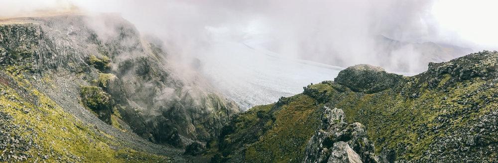 Hiking in Skaftafell National Park.