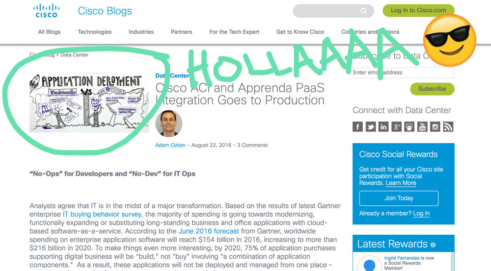Cisco blog cameo appearance