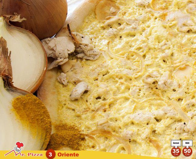 #3 - Oriente  natas . caril . cebola . frango . oregãos