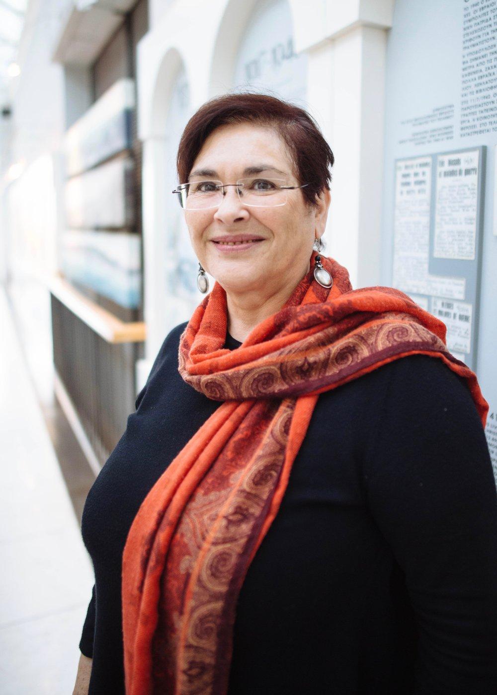 Erika Perahia - Director of the Jewish Museum of Thessaloniki.