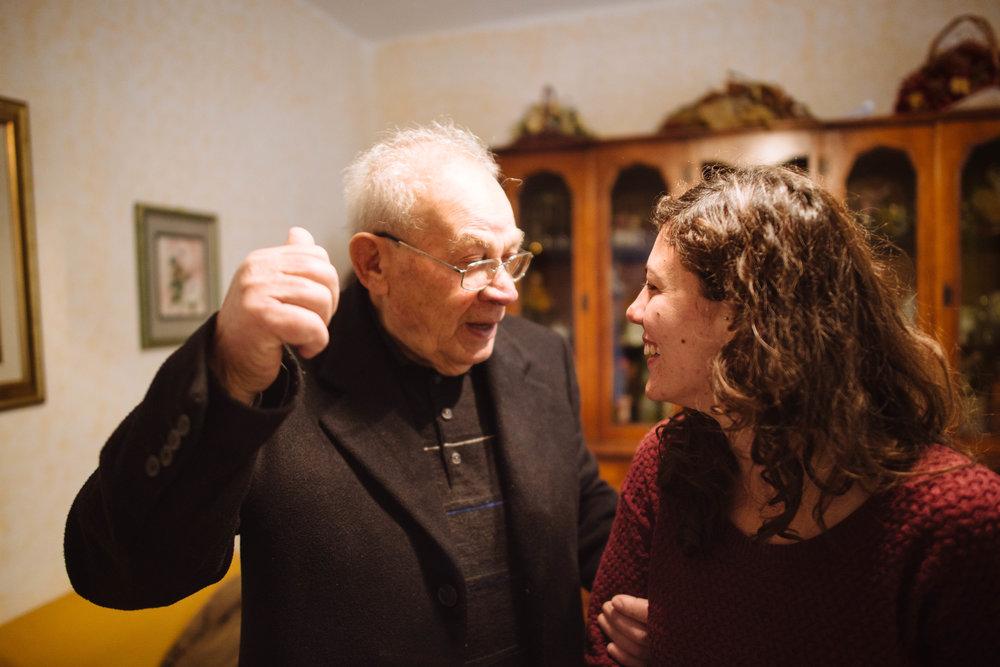 A home visit with Salvatore Siviglia - Roghudi Nuovo.
