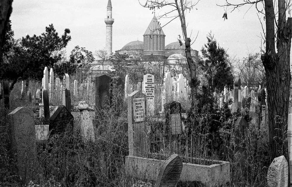 Konya 1990, Blick auf Mewlana Mausoleum