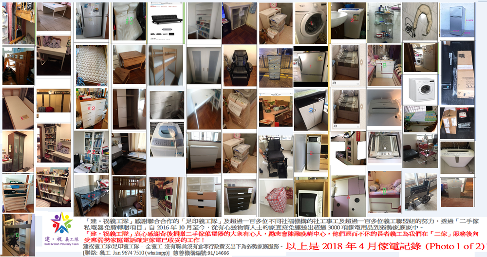 April 2018 Free 2nd Hand Furniture /Home Appliance with Free Delivery record (photo 1 of 2)