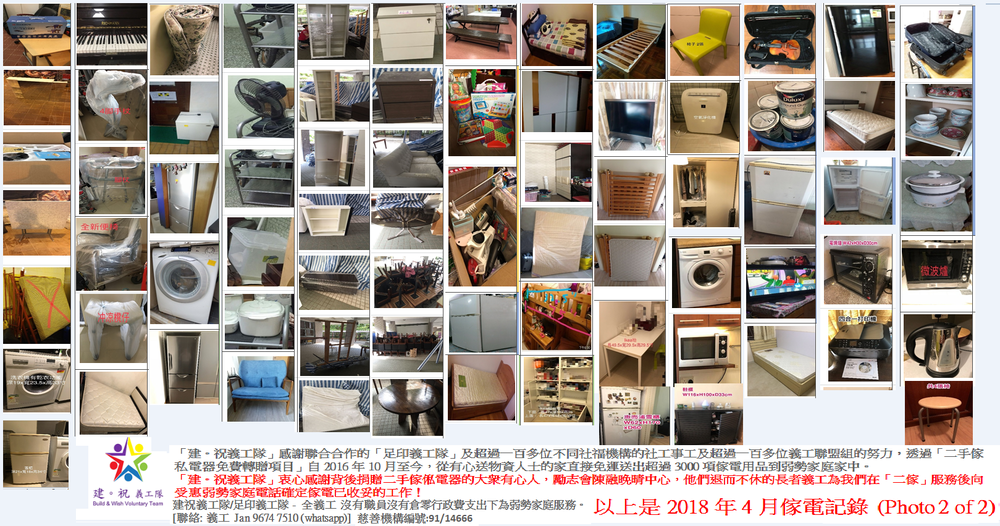 April 2018 Free 2nd Hand Furniture /Home Appliance with Free Delivery record (photo 2 of 2)