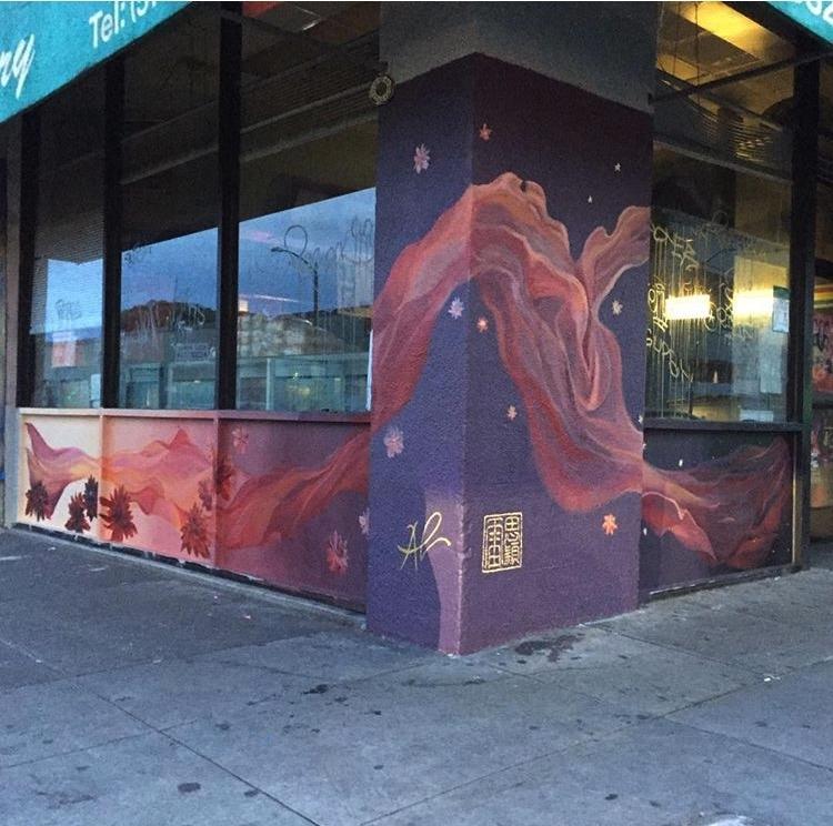 Dragon School 99 Mural in Oakland