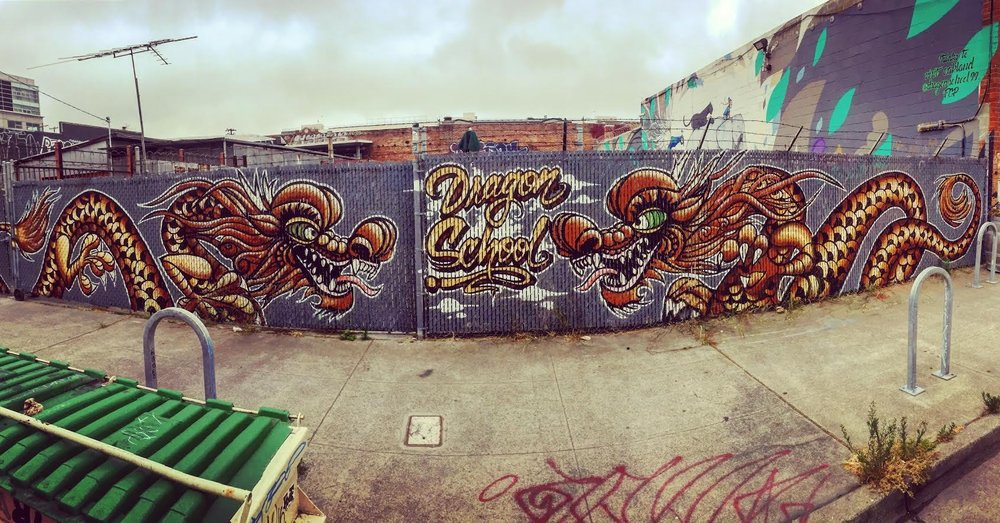 Chinese Dragon Graffiti