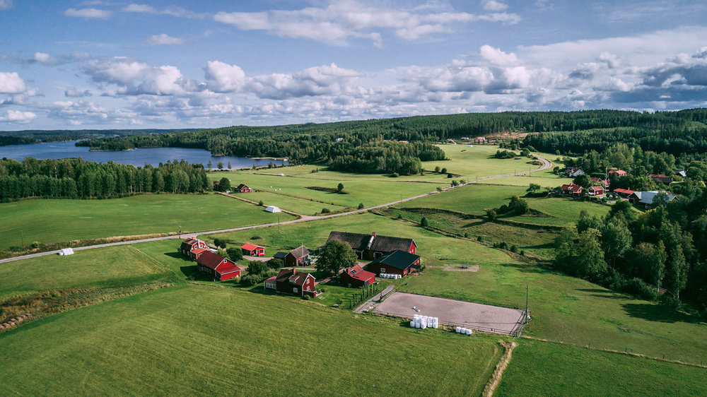 Drönarbild gård
