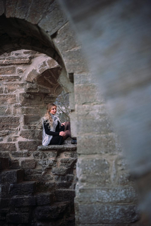 modellfotografering vid Alvastra kloster