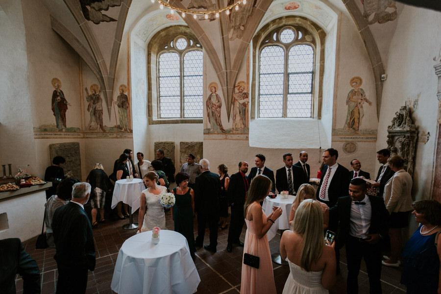 Sektempfang im Schloss Kapfenburg bei der Hochzeitsfeier