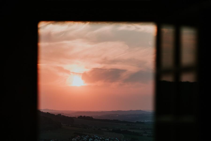 Sonnenuntergang im Ostalbkreis