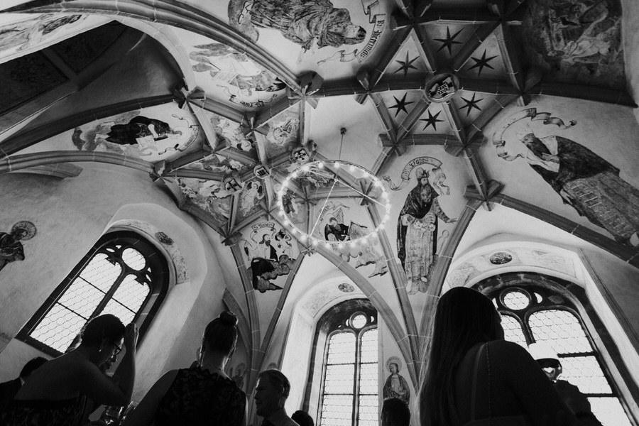 Decke bei der Hochzeitsfeier im Schloss Kapfenburg im Ostalbkreit