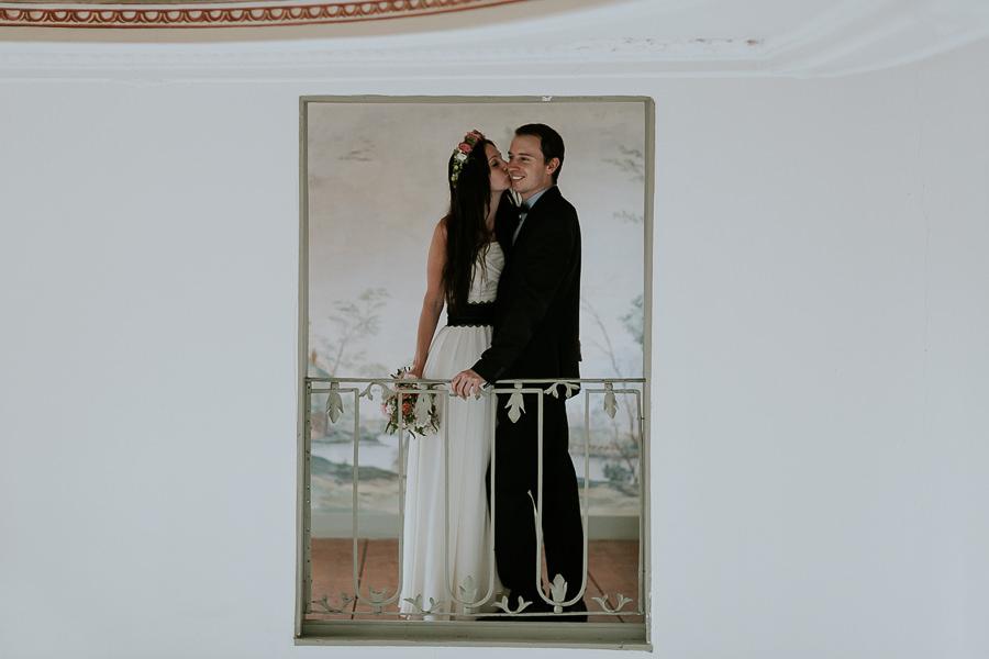 Brautpaar im Bildrahmen