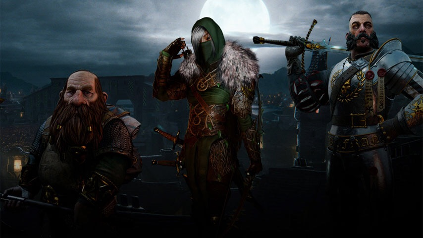 3 of the playable classes: Dwarf Ranger, Elven Waywatcher and the Empire Greatsword
