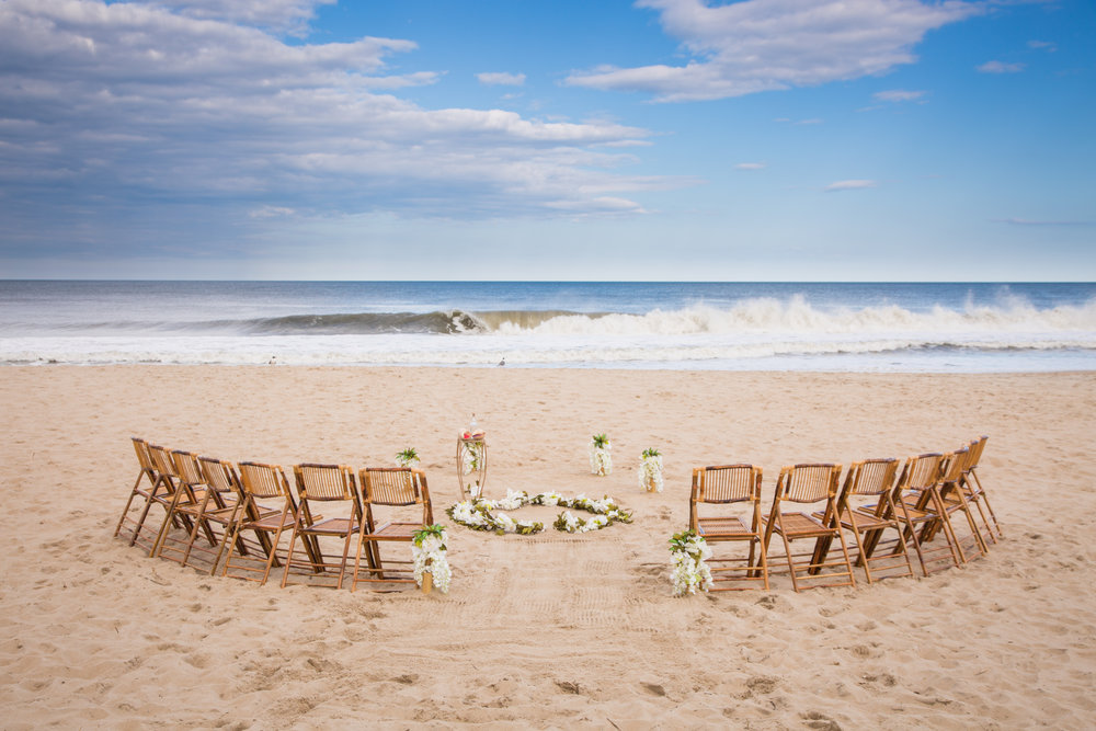 Beautiful wedding ceremony on the beach in Fenwick Island De, just north of Ocean City Md and south of Dover De.