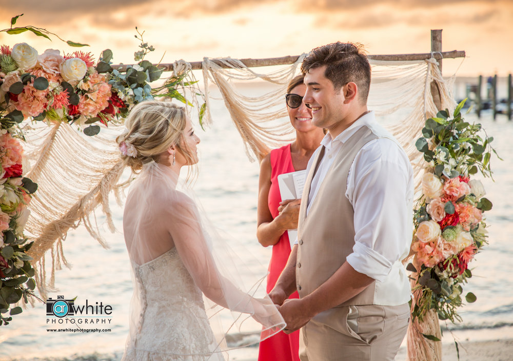 Boho wedding on the beach in Ocean City Md.