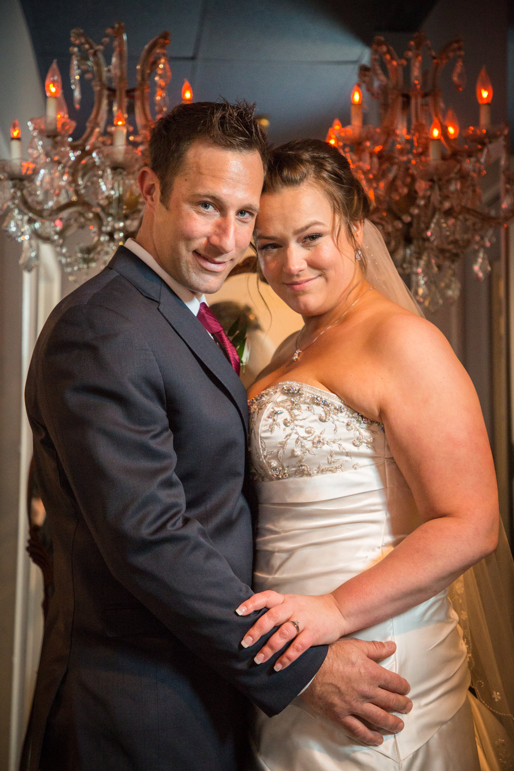 The happy couple sneak off to take a few more portraits in this amazing wedding venue in Ocean City.