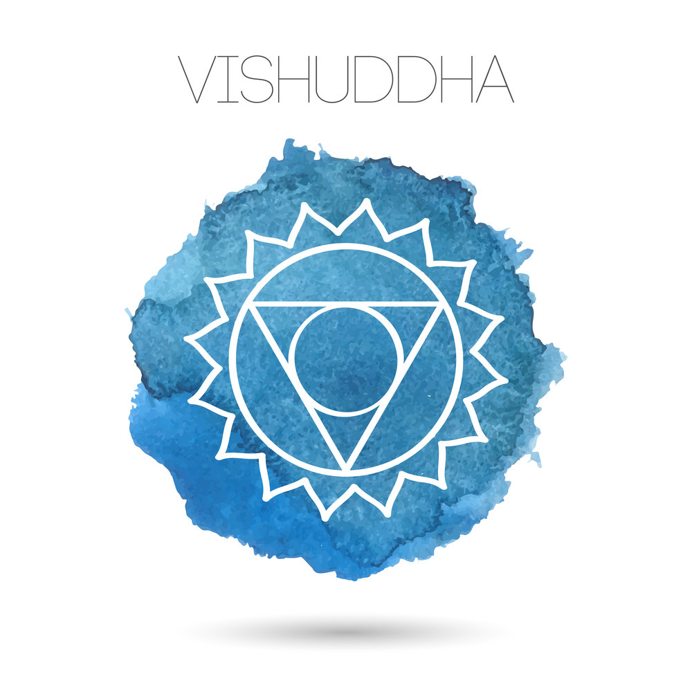 VISHUDDHA - Vishuddha, or the Throat Chakra, is connected to our communication, our willpower, our power of choice. It is the space from which we speak our truth.