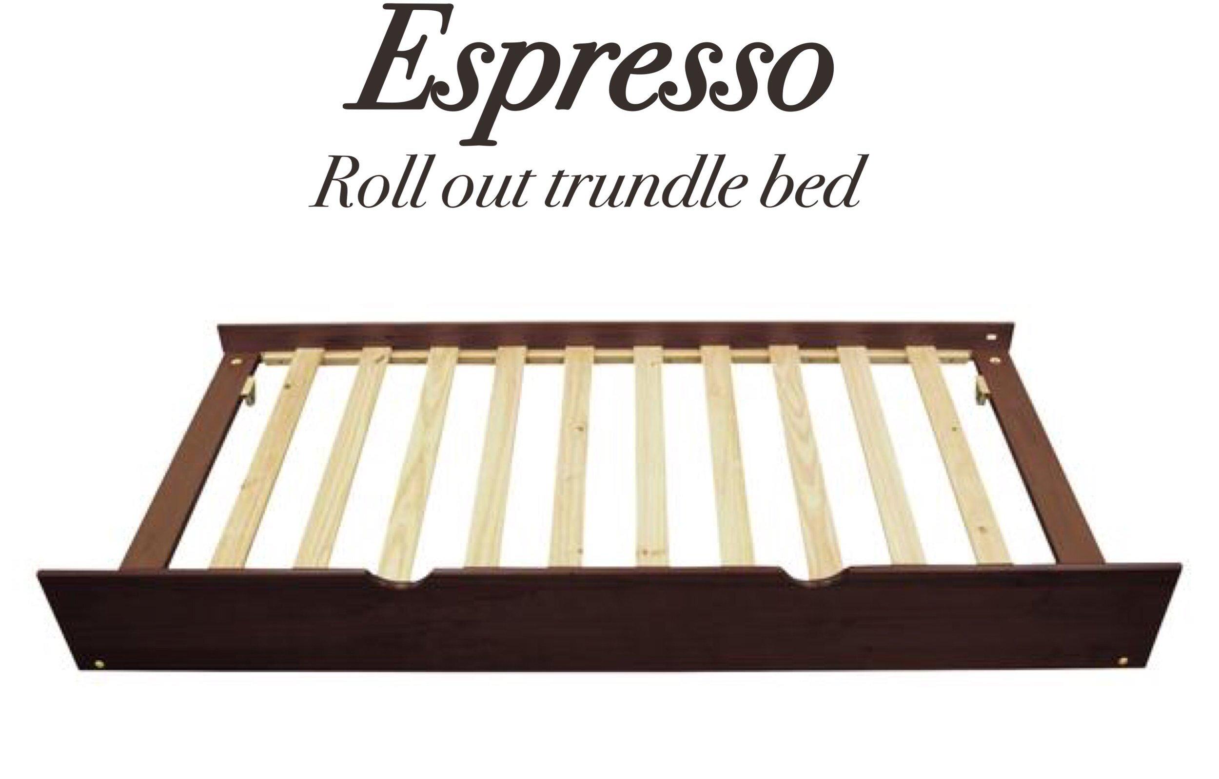 Platform Bedroll Out Trundle In Espressobunk Bedroll Out Trundle In
