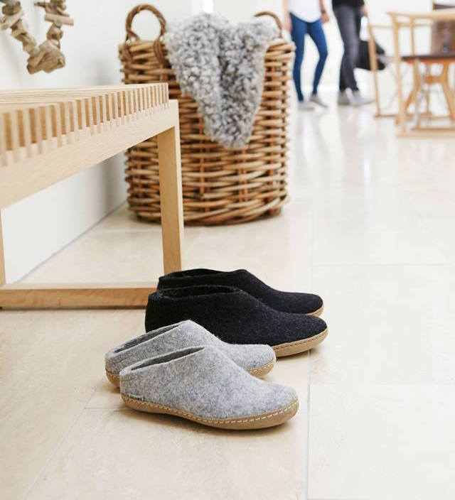 Glerups cozy Danish slippers