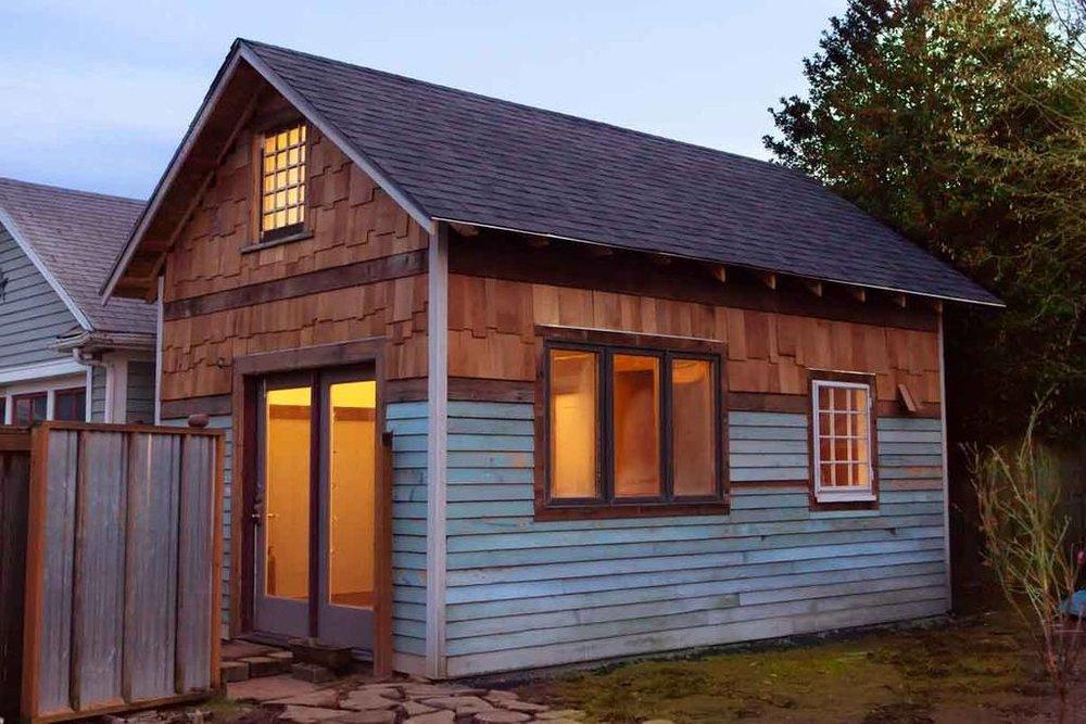 Portland, Oregon rustic modern tiny house exterior