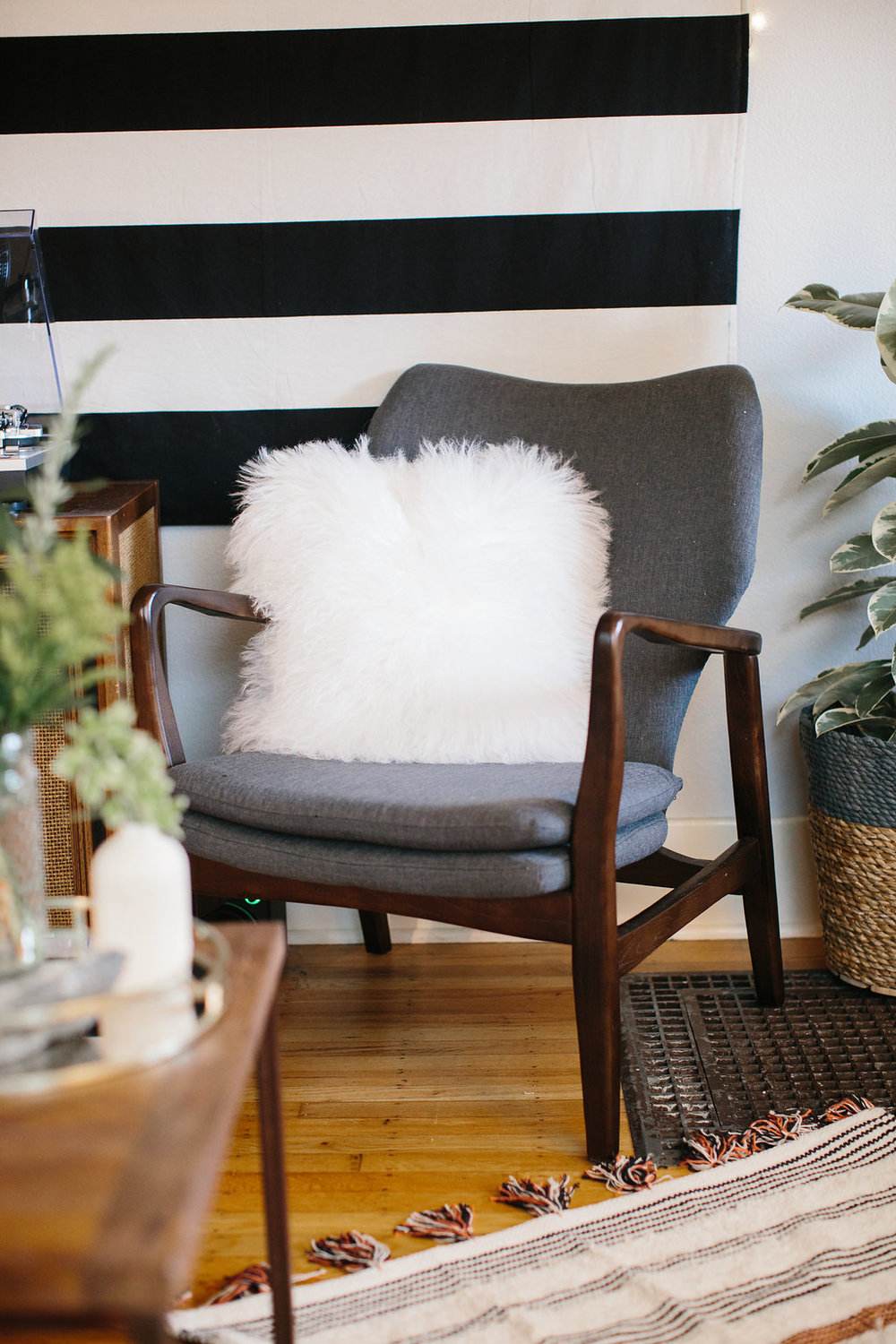 Chair  + Rug + Pillow from  City Home