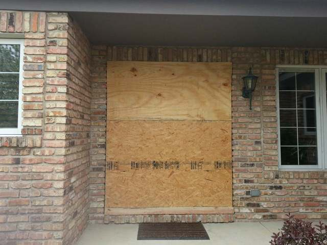 boarded front door
