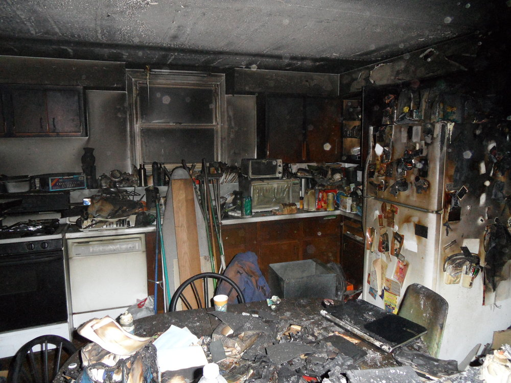 burned kitchen