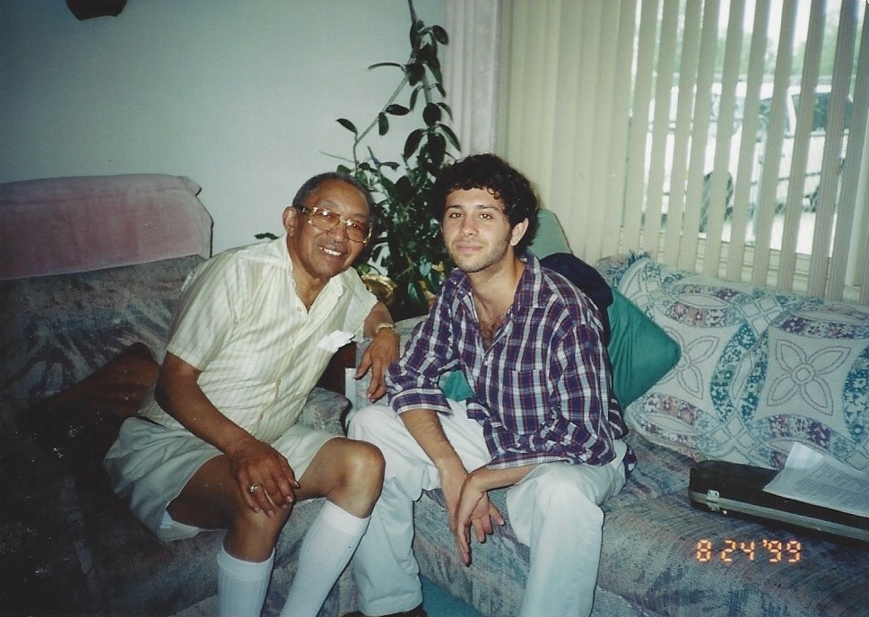 at Claude's home in 1999
