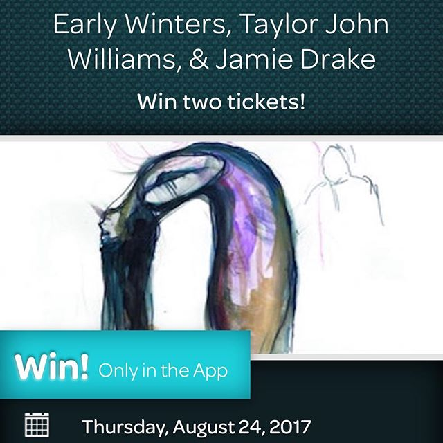 Win tickets for our show at the Satellite on 24th August. Early Winters / Taylor John Williams / Jamie Drake https://offers.thrillcall.com/concert/22552-early-winters-the-satellite-los-angeles