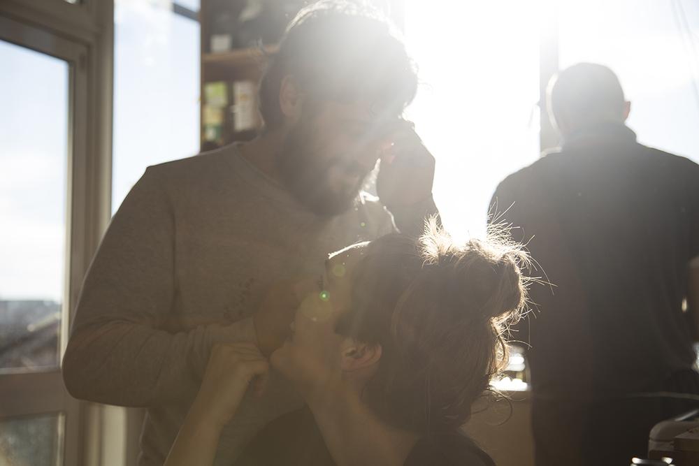 Rober, Laura,Iñigo y el sol.Noviembre de 2015.