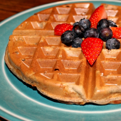 Apple Cinnamon Buckwheat Waffles