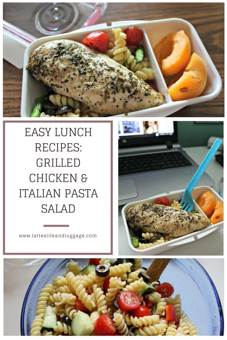 Lunch recipes grilled chicken italian pasta salad lattes life lunch recipes grilled chicken italian pasta salad forumfinder Images