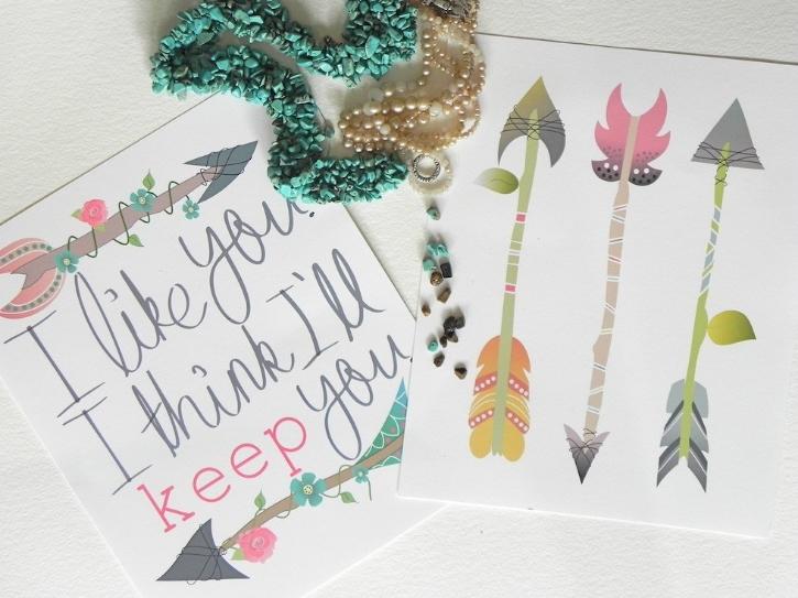 Blog Post:  Free Arrow Home Decor Printables  Image Source:  From Kayla