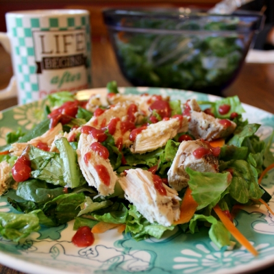 Chicken & Raspberry Salad