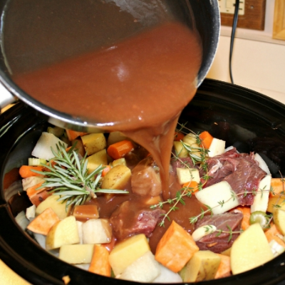 Rosemary & Thyme Slow Cooker Beef Stew