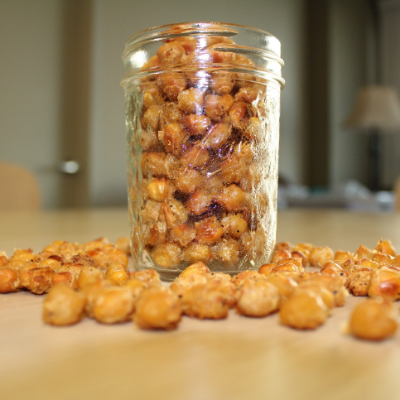 Garlic Parmesan Chickpeas