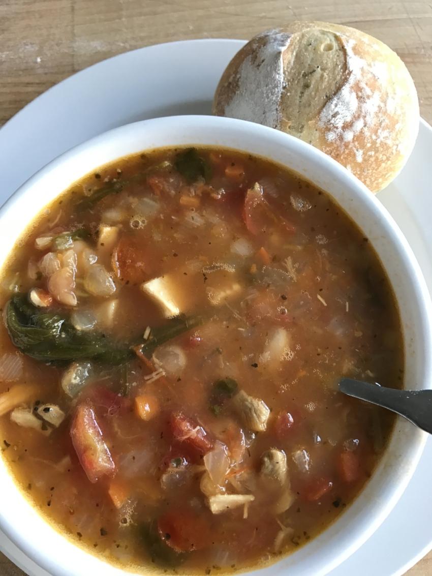 Chicken Florentine Soup c/o Baker & Nosh
