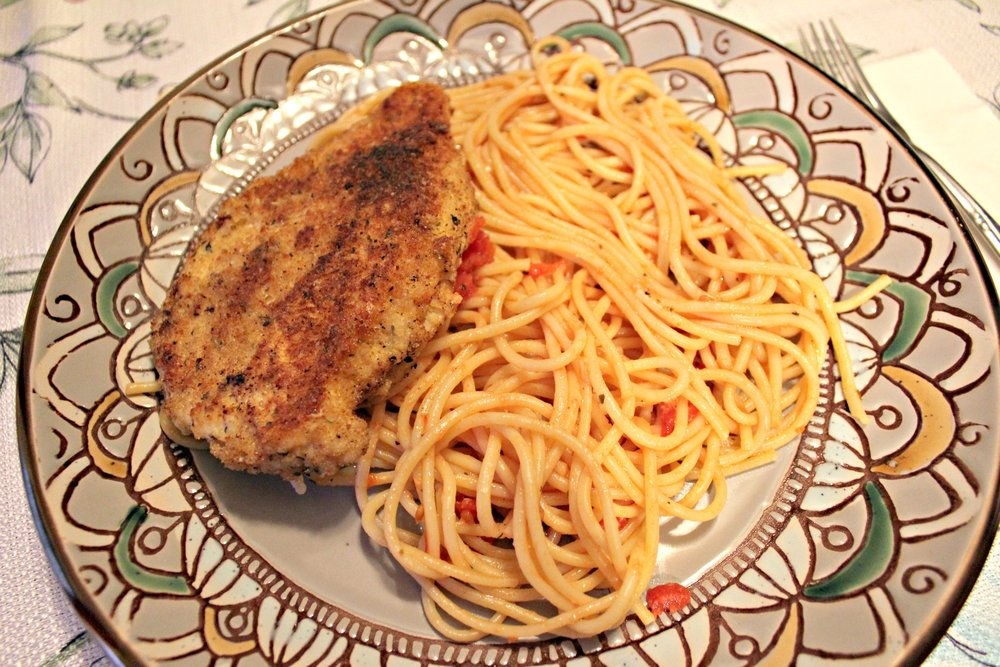 Chicken Milanese with Simple Spaghetti
