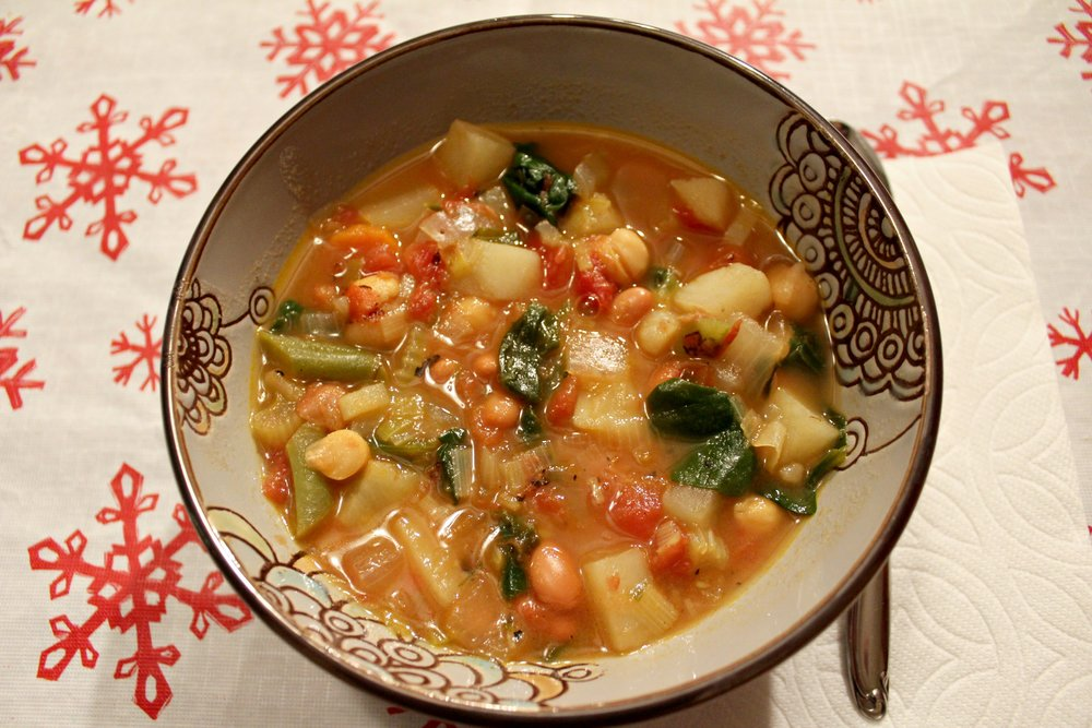 3-Bean & Winter Veggie Soup