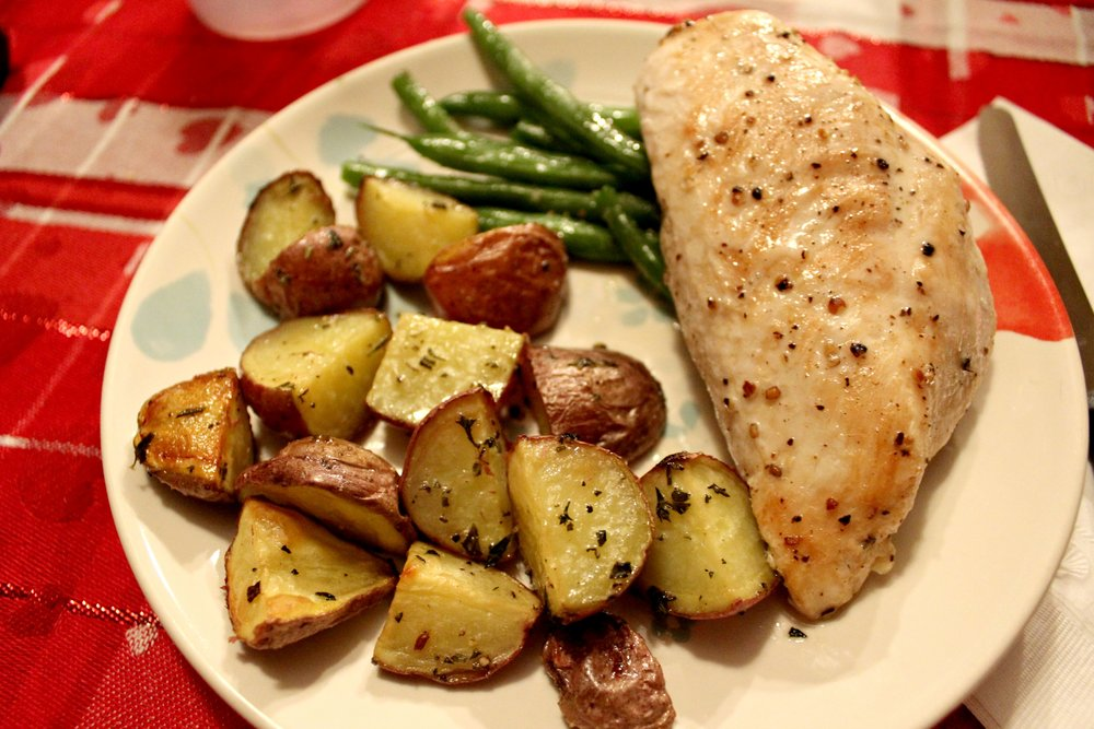Pan-Seared Chicken with Herbed Potatoes