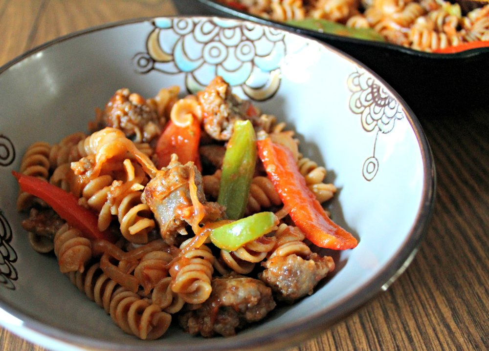 Pasta with Sausage & Peppers