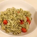 Roasted Cherry Tomato and Basil-Mint Pesto Pasta